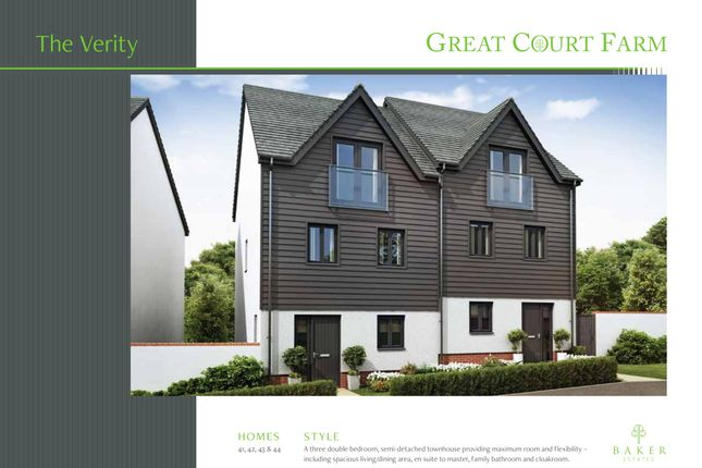 Thumbnail Semi-detached house for sale in Courtfield, Totnes