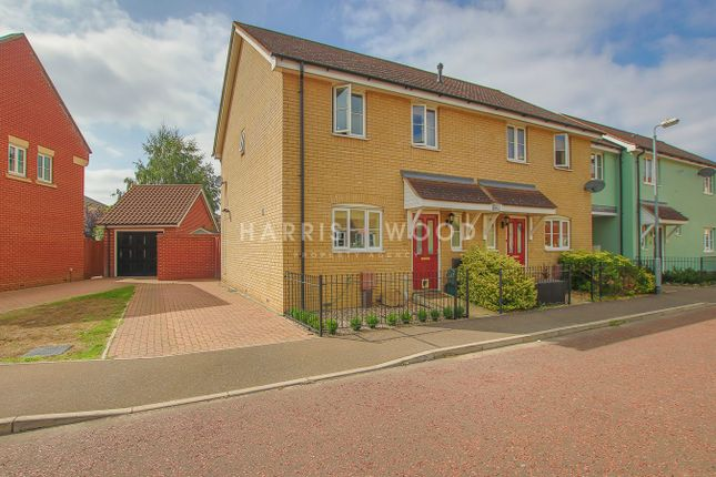 Thumbnail Semi-detached house for sale in Gratian Close, Highwoods, Colchester