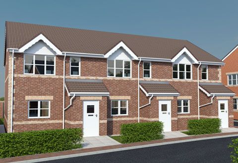 Thumbnail Town house for sale in Chesterfield Road, North Wingfield, Chesterfield