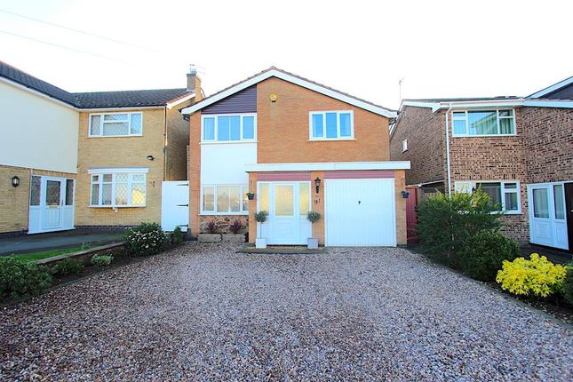 Thumbnail Detached house for sale in Barry Drive, Kirby Muxloe, Leicester