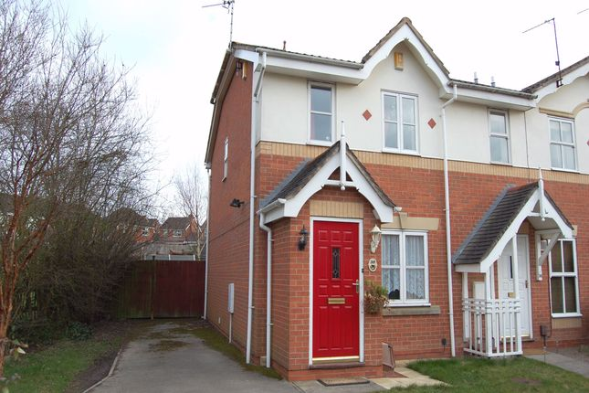 Thumbnail End terrace house to rent in Eley Close, Shipley View, Ilkeston, Derbyshire