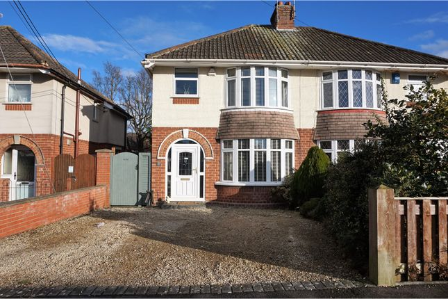 Thumbnail Semi-detached house for sale in Draycott Avenue, Taunton