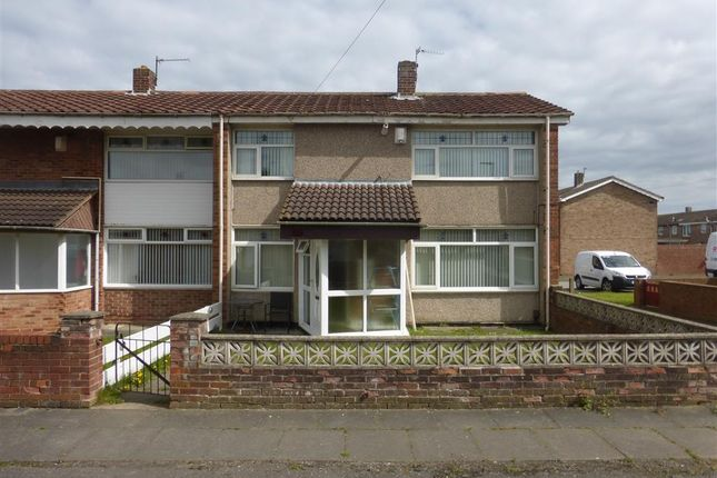 Thumbnail End terrace house to rent in Harvey Walk, Hartlepool