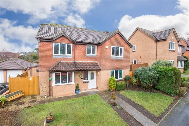 Thumbnail Detached house for sale in Willow Close, Aller Park, Newton Abbot, Devon.