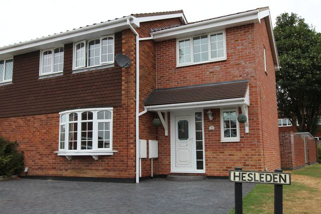 Thumbnail Semi-detached house for sale in Hesleden, Wilnecote, Tamworth