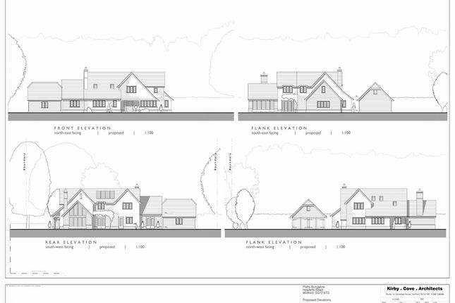 Thumbnail Land for sale in Self Build Opportunity, Woodlands Road, Widford, Hertfordshire