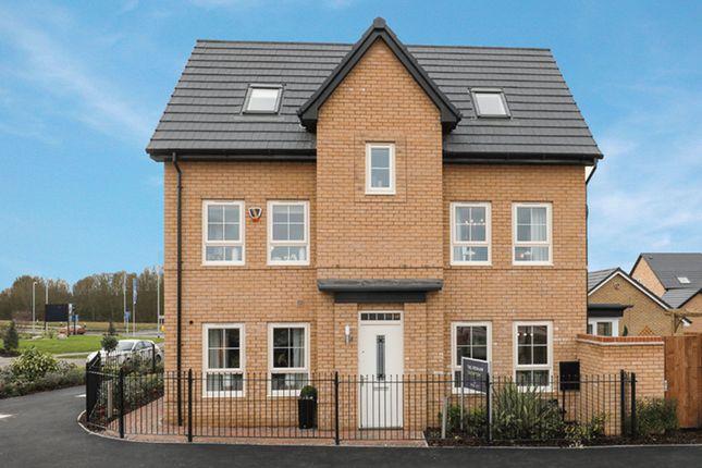 "Thumbnail Detached house for sale in ""Hexley"" at Carters Lane, Kiln Farm, Milton Keynes"