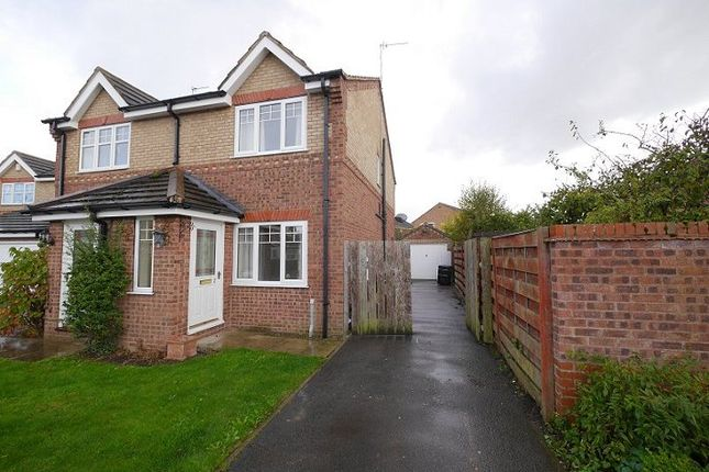Thumbnail Semi-detached house to rent in Pulleyn Close, Strensall, York