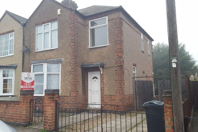 Thumbnail Semi-detached house to rent in Huntington Road, Off Gypsy Lane, Leicester