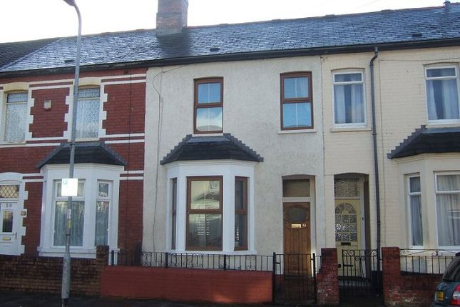 Thumbnail Terraced house to rent in Pembroke Road, Cardiff