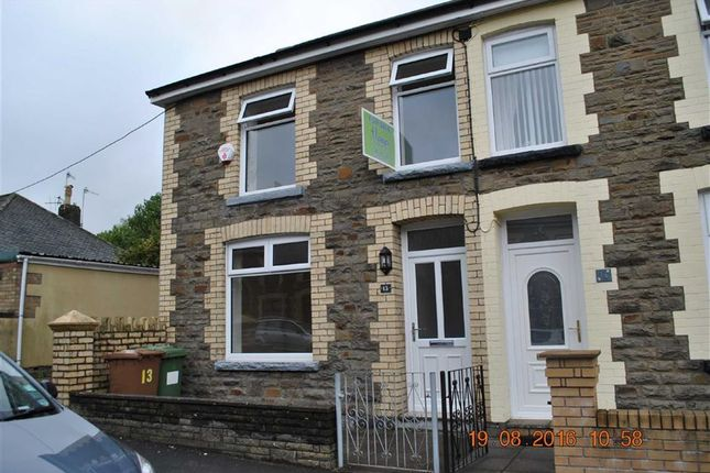 Thumbnail Semi-detached house to rent in Woodland Place, Gilfach, Bargoed