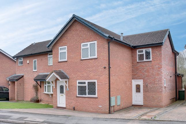 Thumbnail Semi-detached house for sale in Longfellow Close, Redditch