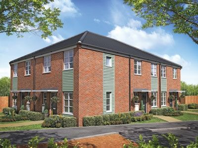 "Thumbnail Terraced house for sale in ""The Aster"" at Boston Road, Kirton, Boston"
