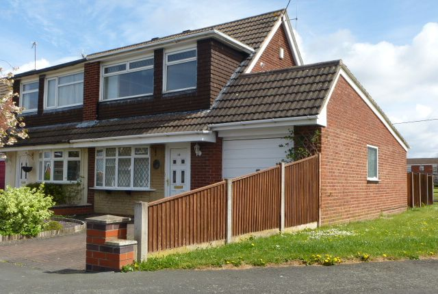 Thumbnail Semi-detached bungalow to rent in Pelican Close, Sydney, Crewe, Cheshire