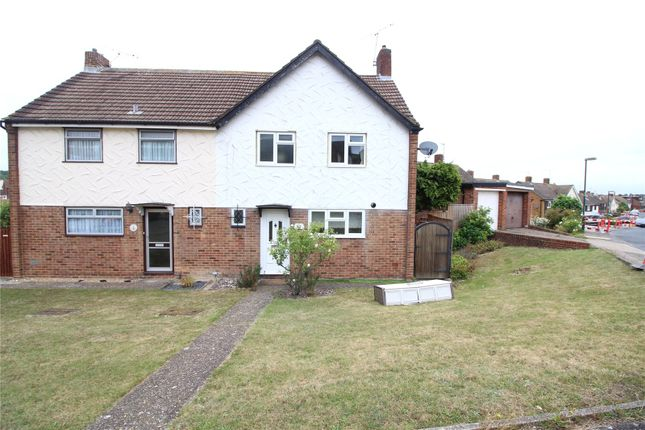 Thumbnail Semi-detached house to rent in Hazel Grove, Chatham, Kent
