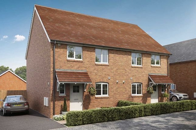 "Thumbnail Semi-detached house for sale in ""The Elmslie"" at Drove Lane, Main Road, Yapton, Arundel"