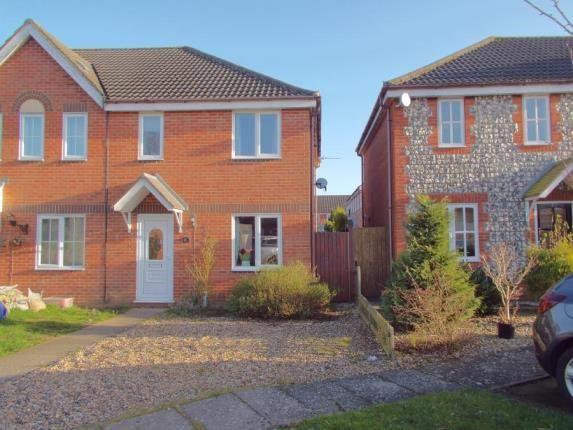 Thumbnail End terrace house for sale in Taverham, Norwich, Norfolk