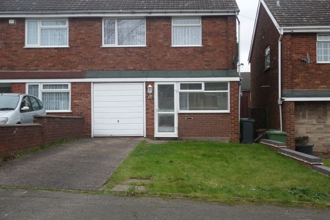 Thumbnail End terrace house to rent in Harden Close, Ryecroft, Walsall