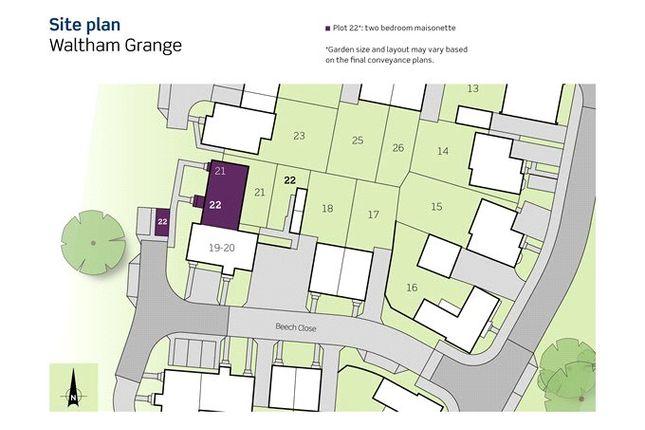 Site Plan of Beech Close, Waltham Chase, Southampton SO32
