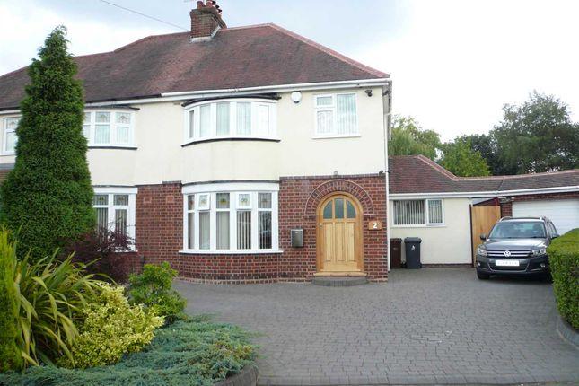 Thumbnail Semi-detached house for sale in Amos Avenue, Wednesfield, Wednesfield