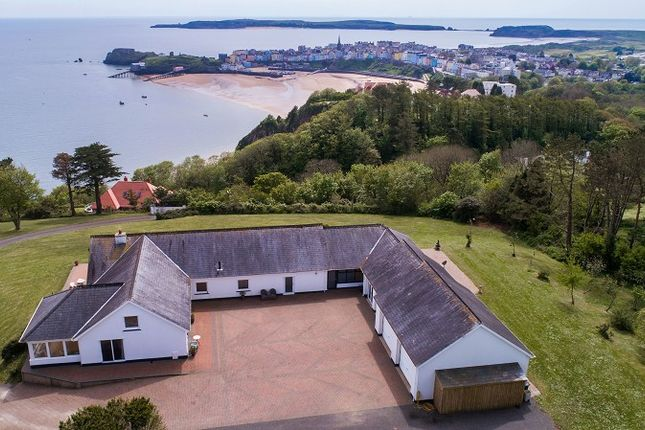Thumbnail Detached bungalow for sale in Clovers, North Cliffe, Tenby, Pembrokeshire.