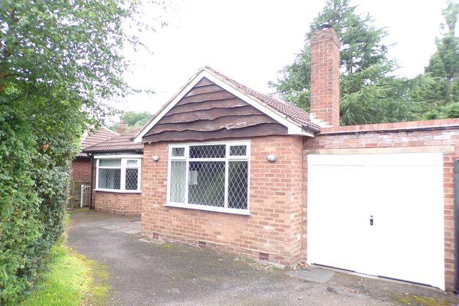 Thumbnail Detached bungalow to rent in Park View Road, Four Oaks, Sutton Coldfield