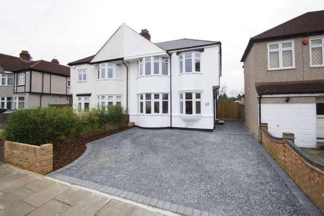 Thumbnail Semi-detached house for sale in Canterbury Avenue, Sidcup