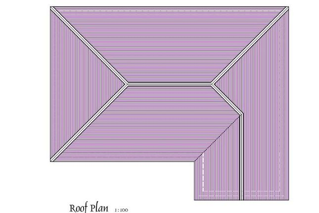 Roof Plan of Sarnau, Llandysul SA44