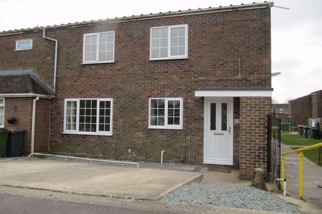 Thumbnail End terrace house to rent in Bermuda Close, Basingstoke