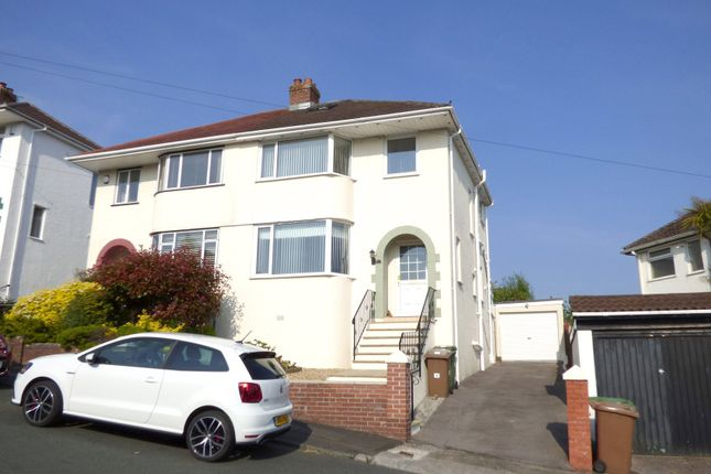 Thumbnail Semi-detached house for sale in St Margarets Road, Woodford, Plympton