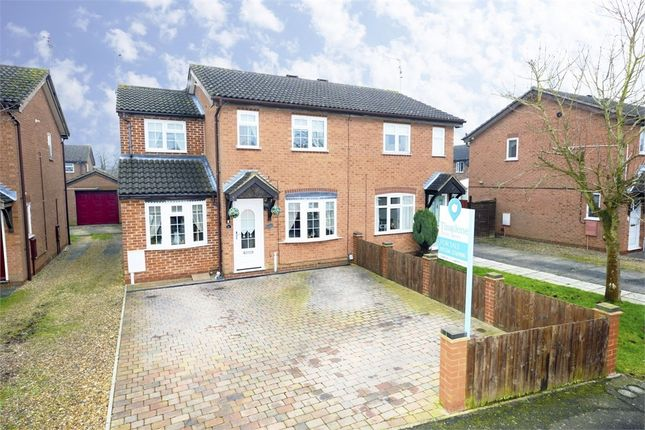 Thumbnail Semi-detached house for sale in Wensleydale Park, Corby, Northamptonshire