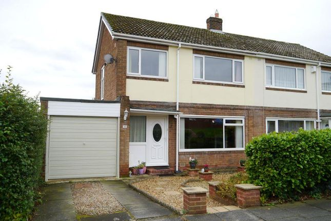 Thumbnail Semi-detached house for sale in Calvus Drive, Heddon-On-The-Wall, Newcastle Upon Tyne