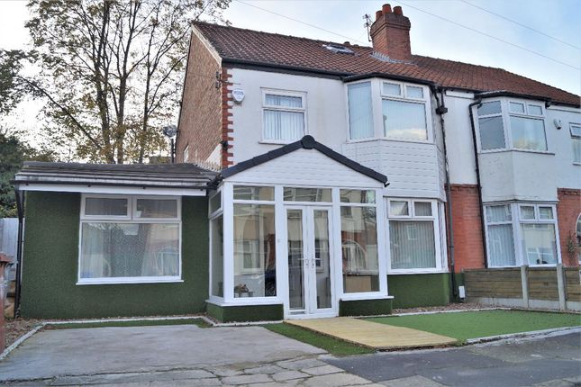 Thumbnail Semi-detached house for sale in Hilbre Road, Burnage, Manchester