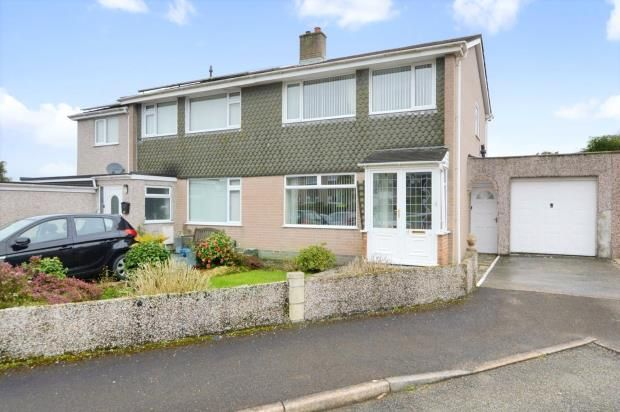 Thumbnail Semi-detached house for sale in Holcroft Close, Saltash, Cornwall