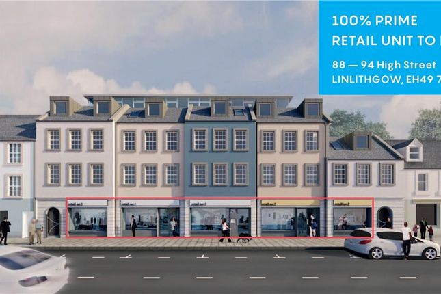 Thumbnail Retail premises to let in 88-94 High Street, Linlithgow