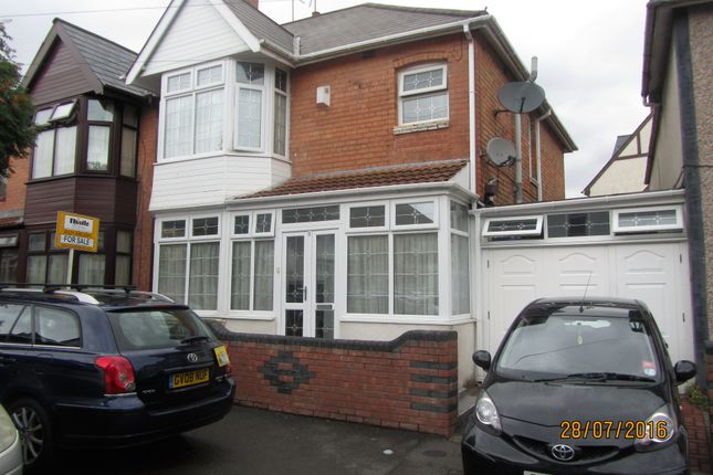 Thumbnail Semi-detached house for sale in Eileen Road, Sparkhill, Birmingham