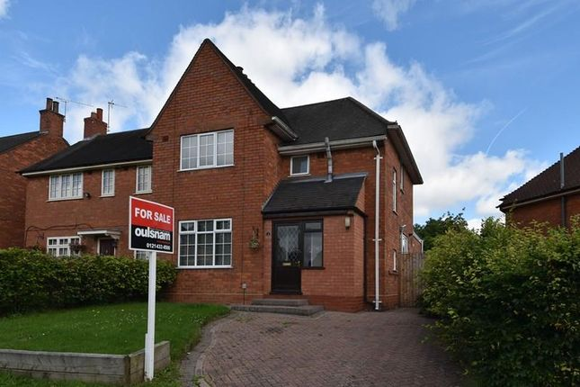 Thumbnail Semi-detached house for sale in Blackthorn Road, Bournville, Birmingham