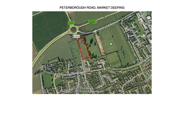 Thumbnail Land for sale in Peterborough Road, Market Deeping