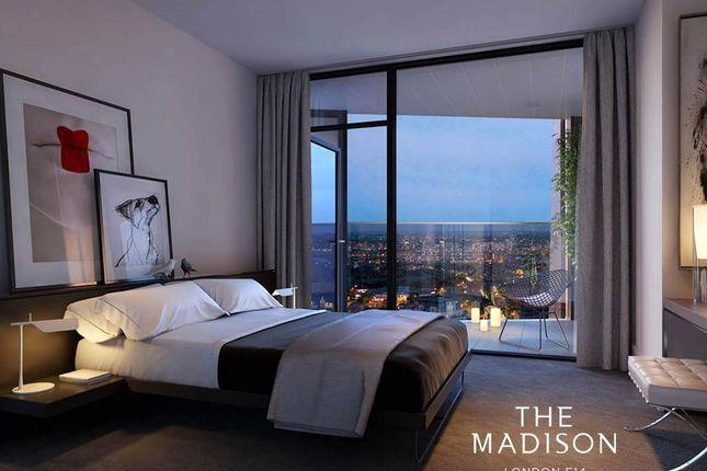 Bedroom of The Madison, Marsh Wall, Carney Wharf, London E14