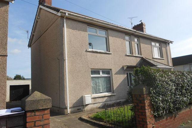 Thumbnail Semi-detached house to rent in Sandown Road, Port Talbot, Neath Port Talbot.