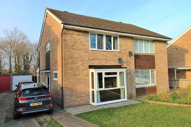 Thumbnail Semi-detached house for sale in Hillmead, Crawley, West Sussex.