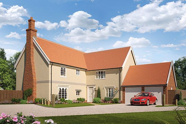 Thumbnail Detached house for sale in Earl's Meadow, The Street, Easton, Suffolk
