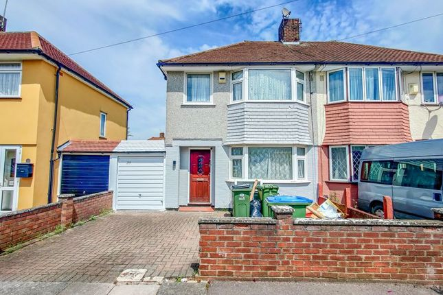 Thumbnail Semi-detached house to rent in Birkdale Road, Abbey Wood, London