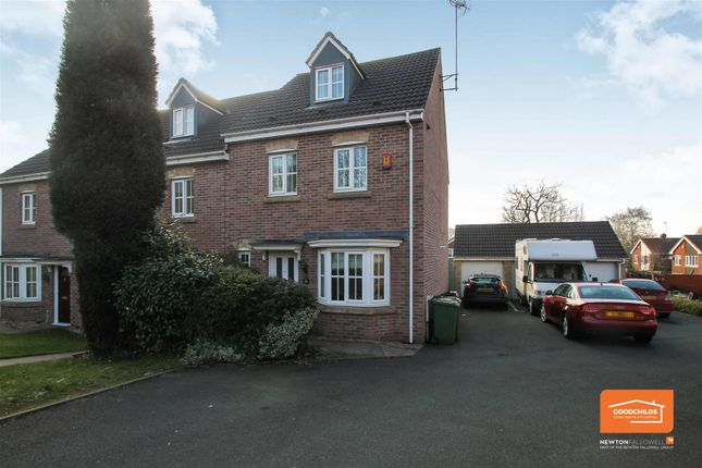 Thumbnail Town house for sale in Barrow Close, Walsall Wood, Walsall