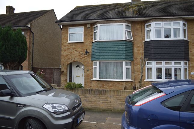 Thumbnail End terrace house to rent in South Hall Drive, Rainham