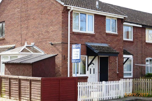 Thumbnail End terrace house to rent in Roman Way, Chippenham