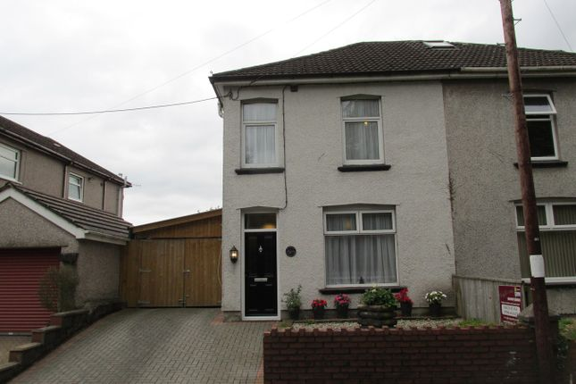 Thumbnail Semi-detached house for sale in Risca Road, Rogerstone, Newport