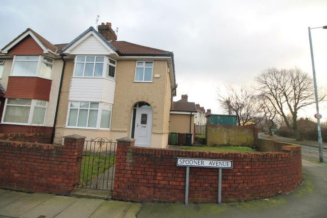 Thumbnail Semi-detached house for sale in Spooner Avenue, Litherland, Liverpool