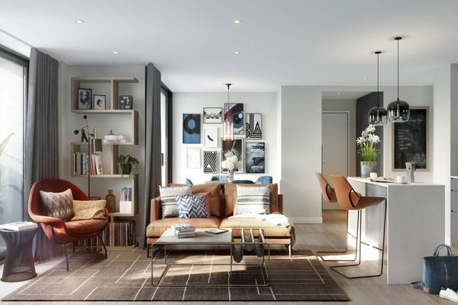 Thumbnail Flat for sale in Queens Square, Croydon