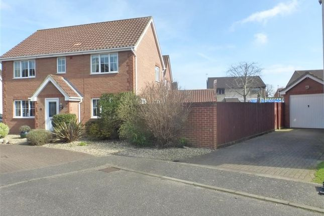 Thumbnail Detached house for sale in Varrick Way, Attleborough